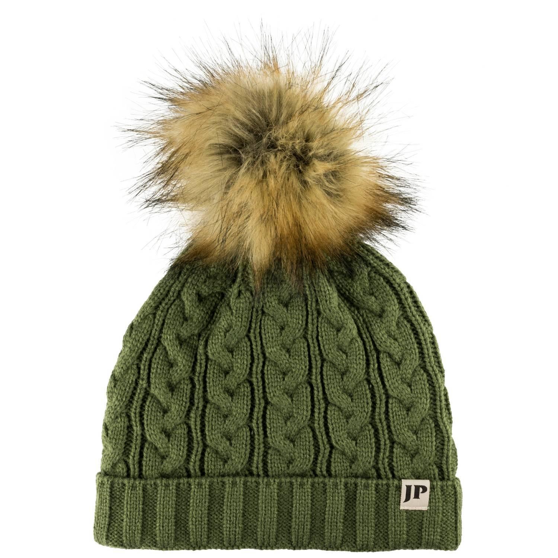 JACK PYKE Ladies Cable Knit Bob Hat