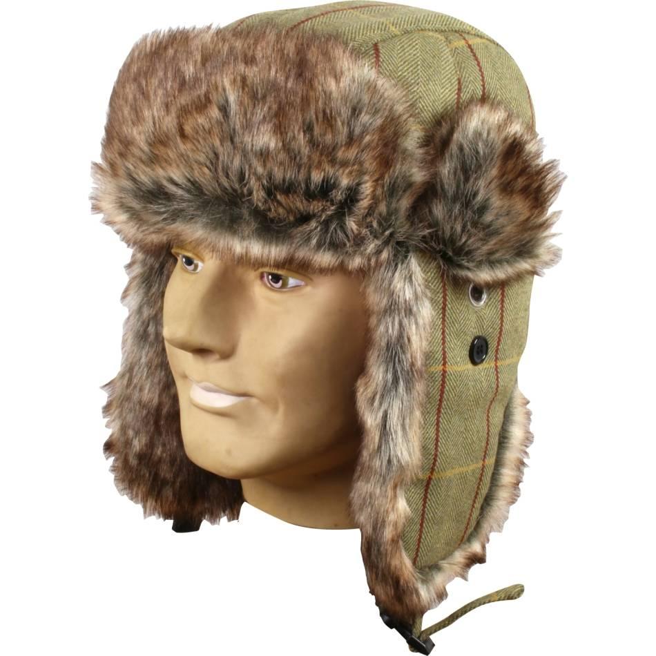 28f9c7b4e28c8 Jack Pyke Wool Blend Tweed Trapper Hat