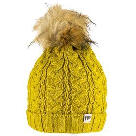 Ladies Cable Knit Bob Hat  Mustard