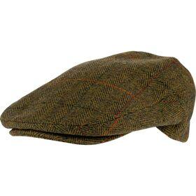 Wool Blend Flat Cap Tweed Brown