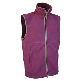 Fleece Gilet Burgundy L